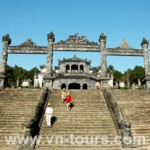 The Gate of KHai Dinh tobm in Hue