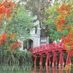 The Huc Bridge In Hanoi