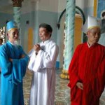 The high ranking people  of Cao Dai religion in Tay Ninh Vietnam