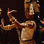 Khmer dance on cruise