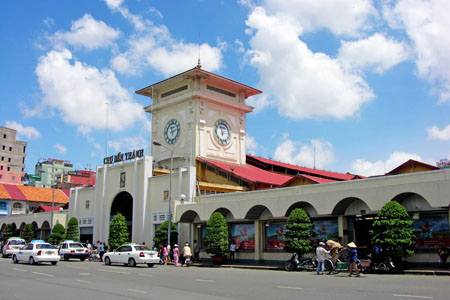 Ben Thanh Market is famous place in Ho Chi Minh