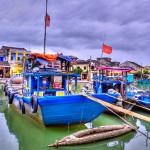 Boat on Thu Bon river