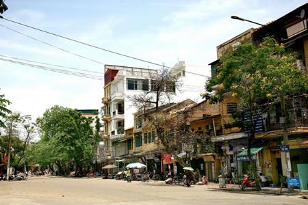 Cua Nam street in Hanoi, Vietnam