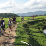 Cycling in Dong Trieu Village