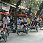 Cyclo in the Old Quarter of Hanoi