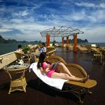 Cruise Sundeck on Halong Bay