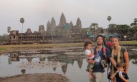 Family in Angkor