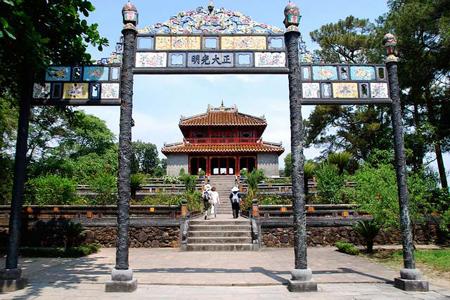 Gate way to Minh Mang Tomb