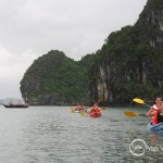 Kayaking in Luon area in Halong Bay