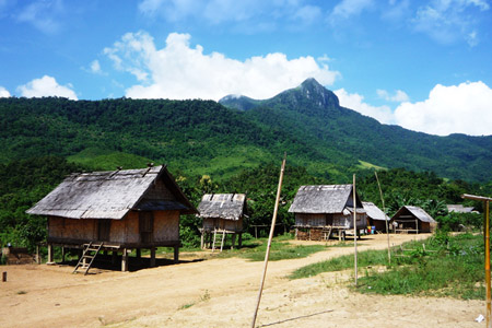Khmu village Laos