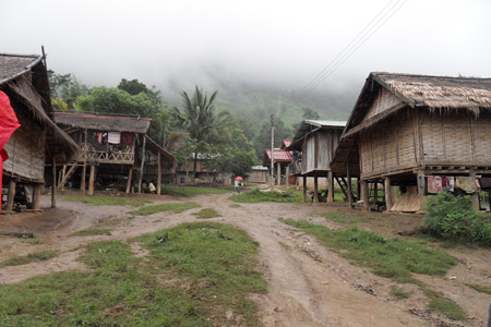 Khmu village in Luang Prabang
