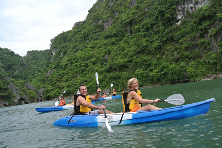 Legend Halong activities Kayaking