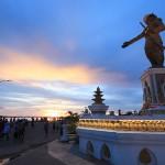 Mekong River sunset Laos
