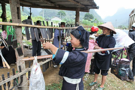 Nung ethnic minorities people in Cao Bang Province