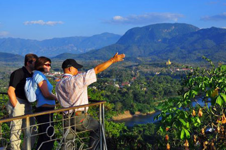 The view from the top of Mount Phousi, Luang Prabang