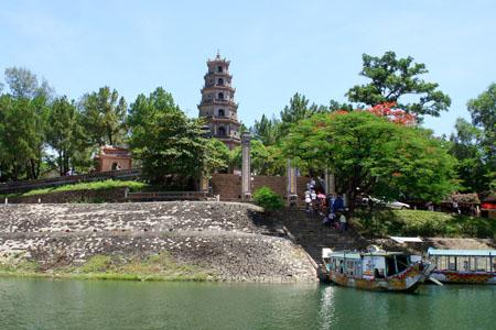 Thien Mu Pagoda from Perfume River