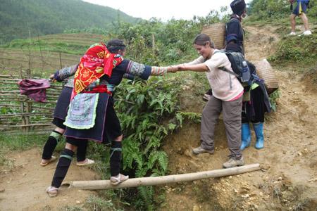 Treking to Lao Chai Village