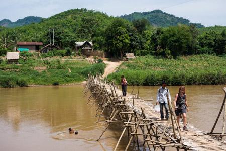 Trekking to Ban Hadsaphaei village