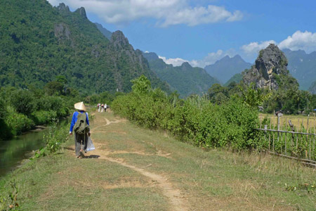 Trekking and caving around Vang Vieng