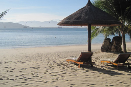Beach in Vinpearl Luxury Nha Trang