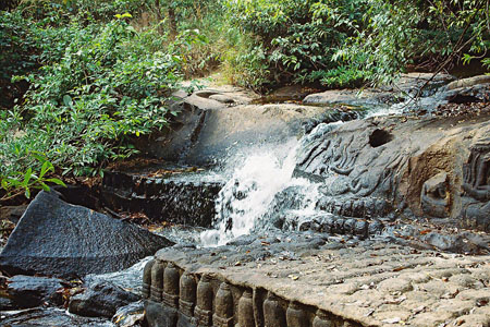 Waterfall and thousand Linga River