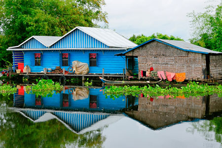 Floating village of Tonle Sap lake